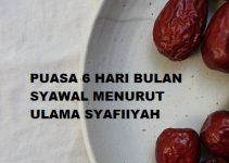 Puasa 6 Hari Bulan Syawal Menurut Ulama Syafiiyah