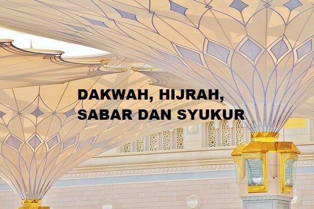 Dakwah Hijrah Sabar dan Syukur